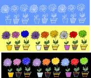 Flowers.ribbons naadloze patronen Stock Afbeelding