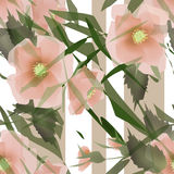 Flowers romantic retro seamless pattern background Stock Photography