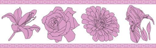 Flowers rose pattern Royalty Free Stock Photo