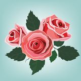 Flowers card Stock Photography