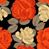 Flowers. Roses. Seamless  background. Vintage illustration. Flowers. Roses. Seamless  background Royalty Free Stock Image