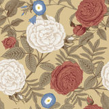 Flowers. Roses. Seamless vector background. Vintage illustration Stock Photos