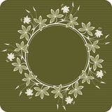 Flowers (round). Floral background. Detailed vector illustration Stock Photography