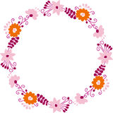 Flowers round frame Royalty Free Stock Photography