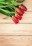 Flowers on Rustic Wooden Board. Stock Photography