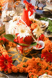 Flowers and sacred items for marriage. Flowers and sacred items arranged for marrying a couple. These are vital for a hindu wedding to be done Stock Image