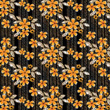 Flowers safari seamless pattern Royalty Free Stock Photo
