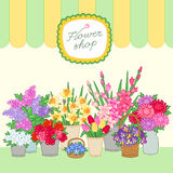 Flowers for sale Royalty Free Stock Photos
