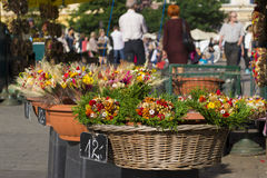 Flowers for sale on a local market Royalty Free Stock Photography