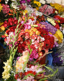 Flowers for sale in the market Royalty Free Stock Photo