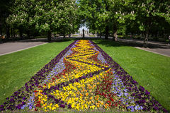 Flowers in the Saxon Garden in Warsaw Stock Photography