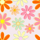 Flowers seamless background. Seamless preparation for the designer Stock Image