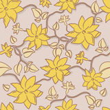 Flowers seamless background royalty free stock images