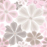 Flowers Seamless Background. Floral Seamless Texture With Flower Stock Image