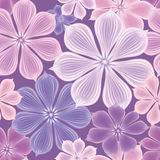 Flowers Seamless Background. Floral Seamless Texture With Flower Stock Photography