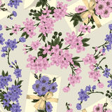 Flowers. Seamless background. Flower texture. Floral pattern. Vintage. Classic. Botany. Letter with flowers. Stock Images
