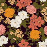 Flowers. Seamless  background. Flower texture. Floral pattern. Vintage. Classic. Botany Royalty Free Stock Photography