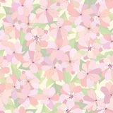 Flowers seamless background. Vector Graphic. Royalty Free Stock Photo
