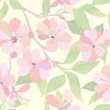 Flowers seamless background. Vector Graphic. Royalty Free Stock Photography