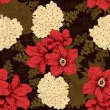 Flowers. Seamless  background. Vintage illustration. Royalty Free Stock Photography