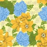 Flowers. Seamless  background. Vintage illustration. Royalty Free Stock Photos