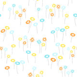 Flowers seamless background. Wallpaper for decorating bridal or childrens or romantic materials stock illustration