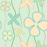 Flowers seamless. Colorful pattern with cute flowers Stock Photos