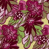 Flowers seamless doodle pattern vector Stock Image