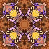 Flowers. Seamless kaleidoscopic pattern Stock Photography