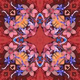 Flowers. Seamless kaleidoscopic pattern Royalty Free Stock Photography