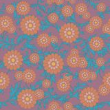Flowers seamless ornament. Using this pattern you can fill any area with no visible bounds Stock Image