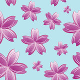 Flowers seamless pattern stock photo