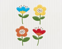 Flowers seamless pattern. Cute flowers seamless on pattern royalty free illustration