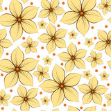 Flowers Seamless Pattern Background. Illustration Stock Photography