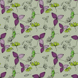 Flowers seamless pattern background Stock Images