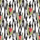 Flowers seamless pattern background Royalty Free Stock Image