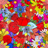 Flowers, seamless pattern Stock Image