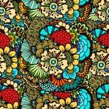 Flowers seamless pattern Stock Photography