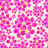 Flowers seamless pattern. A flowers seamless pattern, in EPS10 format and Jpeg 25Mpx Royalty Free Stock Photography