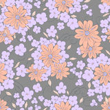 Flowers seamless pattern. Seamless floral pattern. Bouquets of flowers Stock Photography