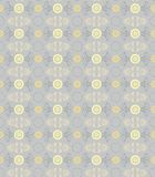 Flowers seamless pattern, gold cornflowers on a gray. Royalty Free Stock Image