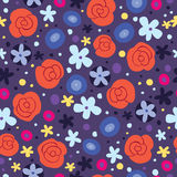 Flowers seamless pattern. Nature design Royalty Free Stock Image