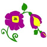 Flowers4-01 vector illustration