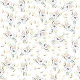 Flowers seamless pattern for paper, textile printing and web projects. Ivory background royalty free illustration