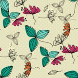 Flowers seamless pattern. Simple background. Royalty Free Stock Photos