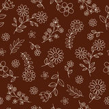 Flowers Seamless Pattern Vector Background Royalty Free Stock Photos