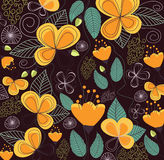 Flowers seamless pattern vector Royalty Free Stock Images