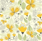 Flowers seamless pattern vector Stock Image
