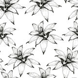 Flowers Seamless PAttern A vector illustration