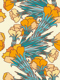 Flowers seamless pattern. Stock Images